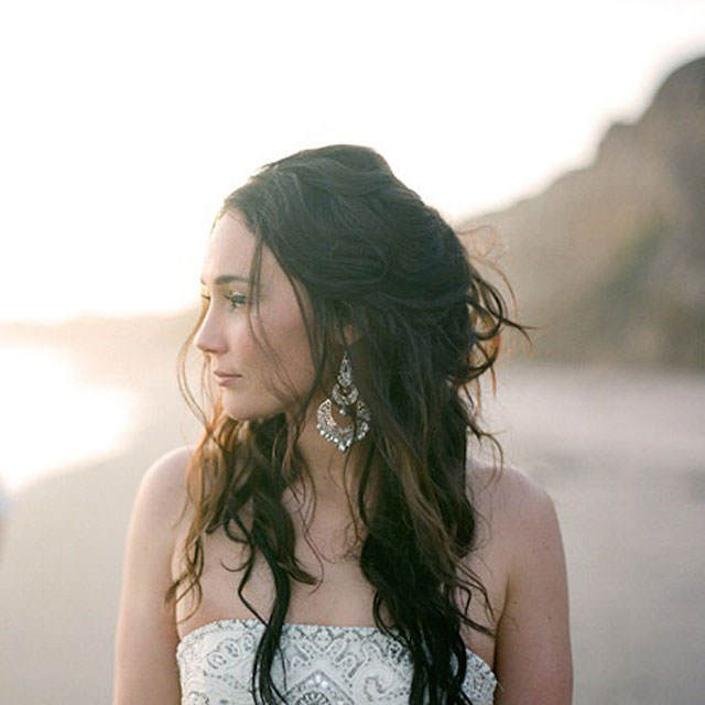 peinado de novia playa cabello suelto