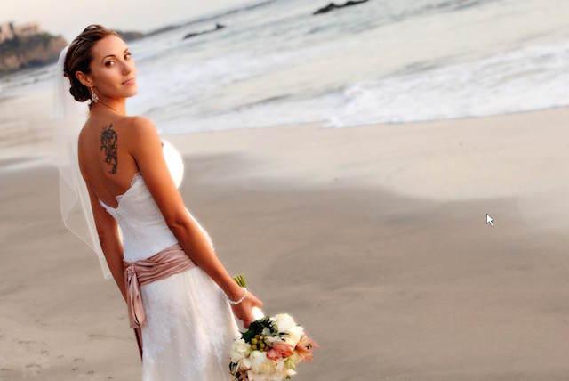 peinado de novia moño estilo playa