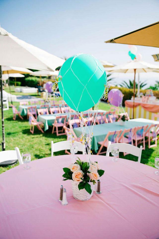 pintada decoración tema globos fiesta preciosa