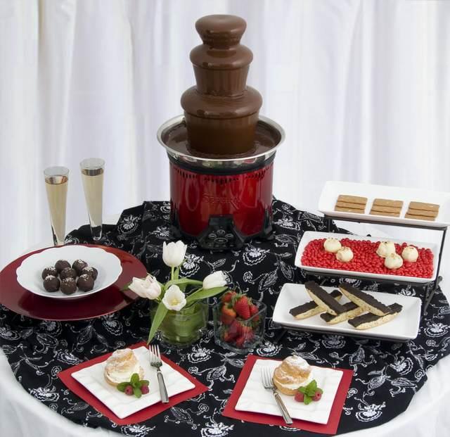 postres sabrosos fuente chocolate fiesta corporativa