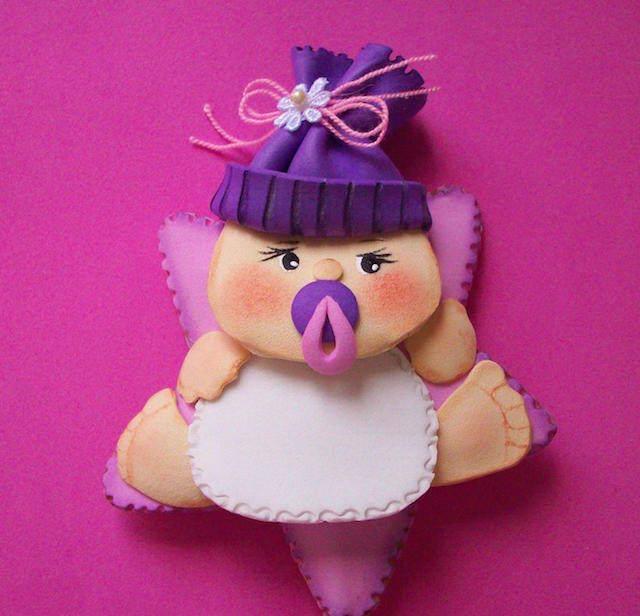 precioso distintivo para baby shower bebé niña