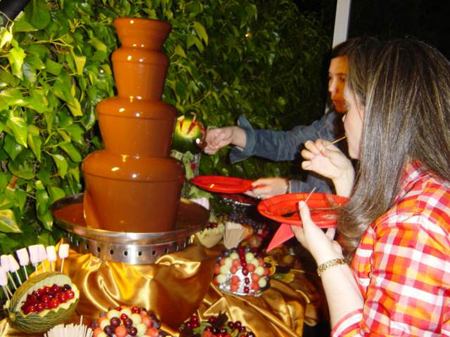 precioso postre chocolate eventos corporativos