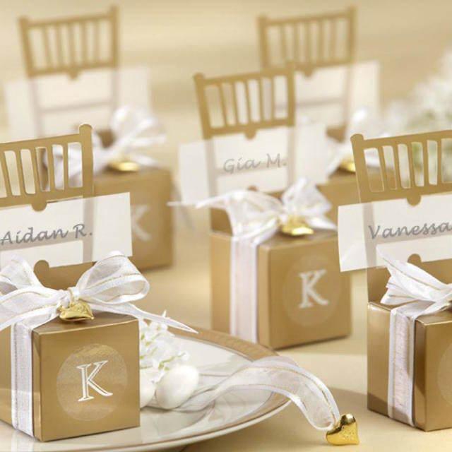 preciosos recuerdos para boda regalos dorados