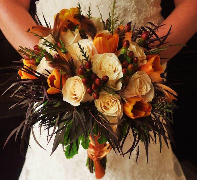 ramo de flores diferente boda invierno Navidad