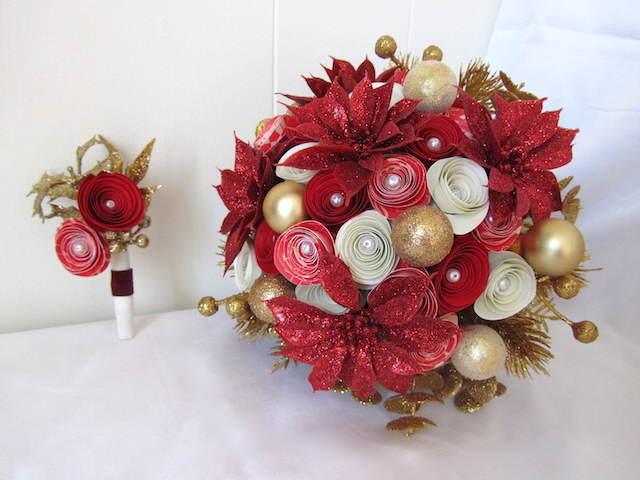 ramo de flores precioso fiestas navideñas