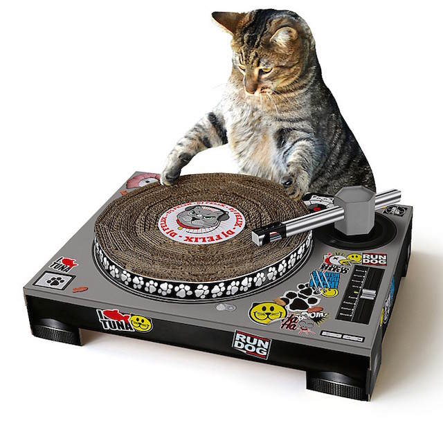 rascador DJ gatos regalos de Navidad aficionados
