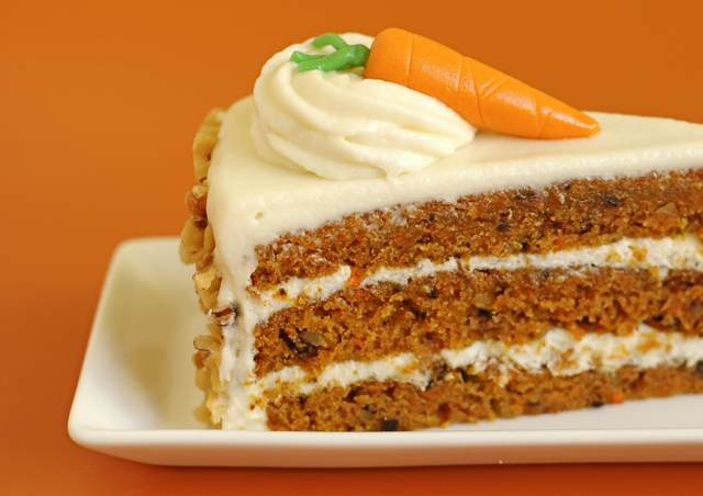 rebanada pastel zanahoria recetas decoración original