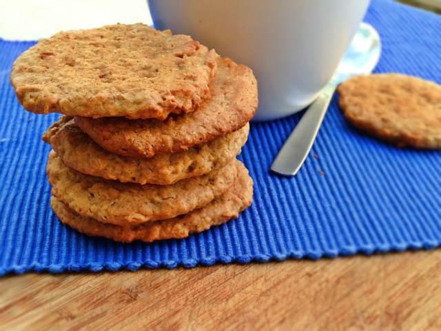 menú sabroso saludable galletas de avena