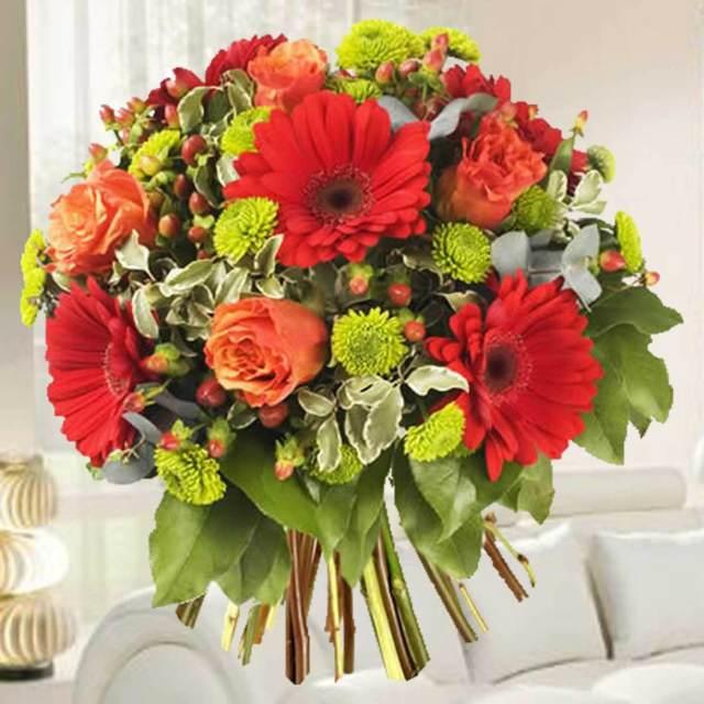 regalo clásico siempre original ramo flores magníficos cumpleaños