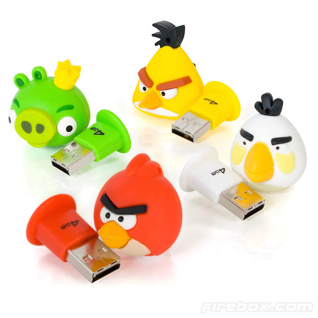 regalos divertidos memorias usb angry birds