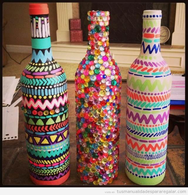 regalos originales manualidades botellas decoradas cumpleaños