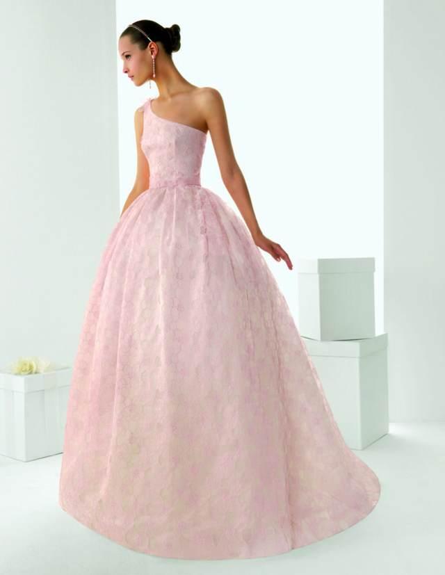 rosa clara vestidos novia sencillos colores modelos modernos 2015