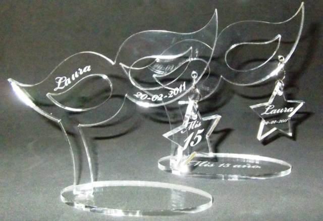 souvenirs 15 años forma antifaz nombre grabado ideas original elegante
