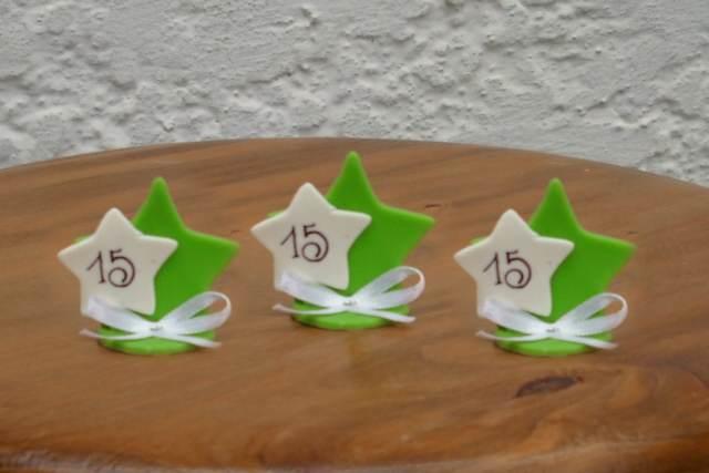 15 años souvenirs estrellas cinta idea sencilla