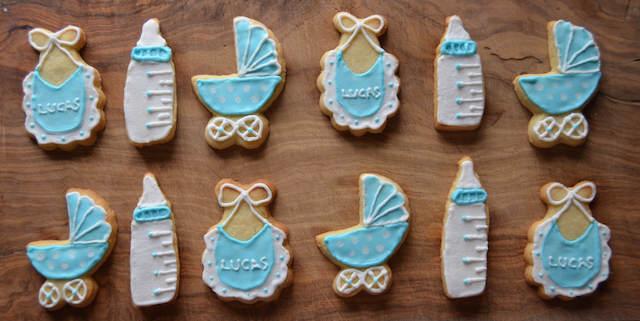 temáticas galletas de mantequilla baby shower niño