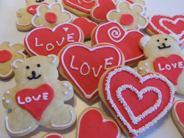 temáticas galletas de mantequilla día San Valentín