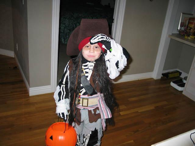 temático disfraz de pirata Halloween cumpleaños infantiles