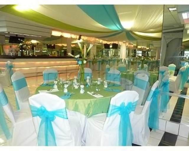 tendencias modernas bodas decoración azul ideas