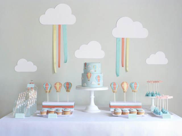 decoración para cumpleaños colores suaves
