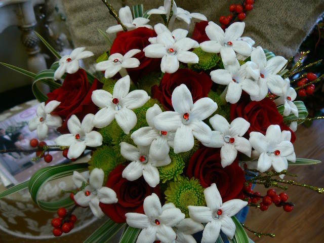tierno ramo de flores Navidad