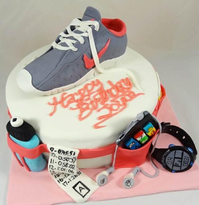 torta cumpleaños decoración temática corredores ideas preciosas