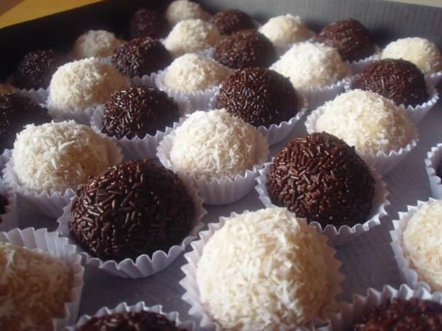 trufas chocolate blanco negro ideas fiesta menú