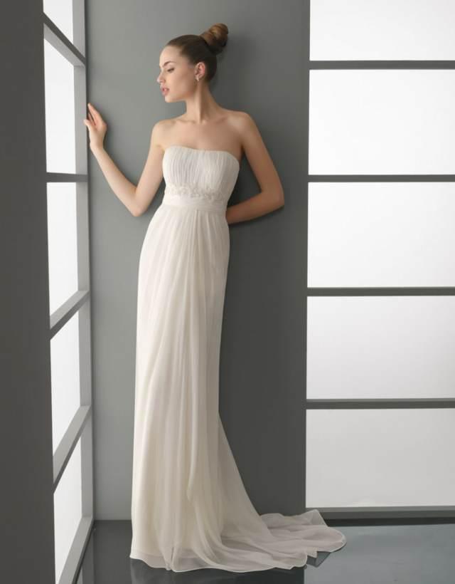 vestidos de novia sencillos ideas magníficas largas elegantes modelos 2015