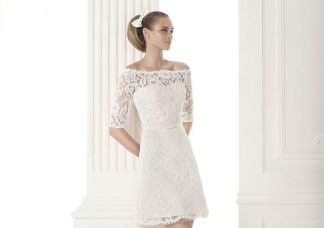 Vestidos de novia sencillos y elegantes cortos