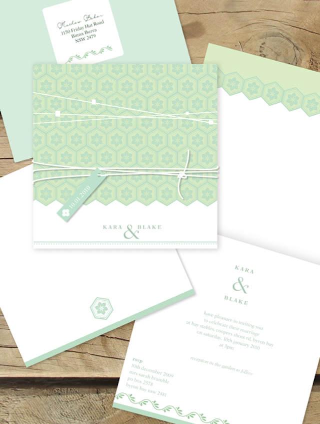 2015 invitaciones de boda verde lucite blanco