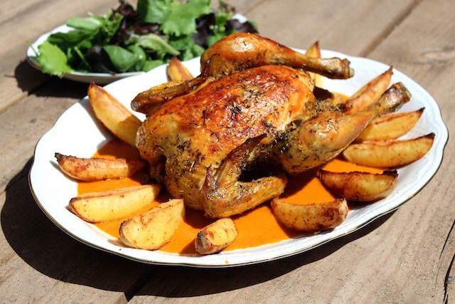 Pollo al horno comidas sanas ricas