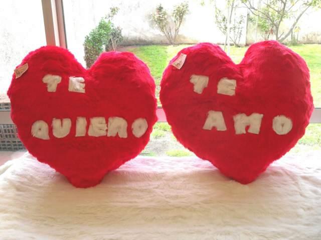 almohadas forma corazón regalos para mi novio