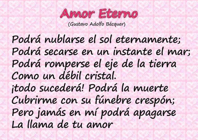 amor eterno poemas románticos novia Bécquer