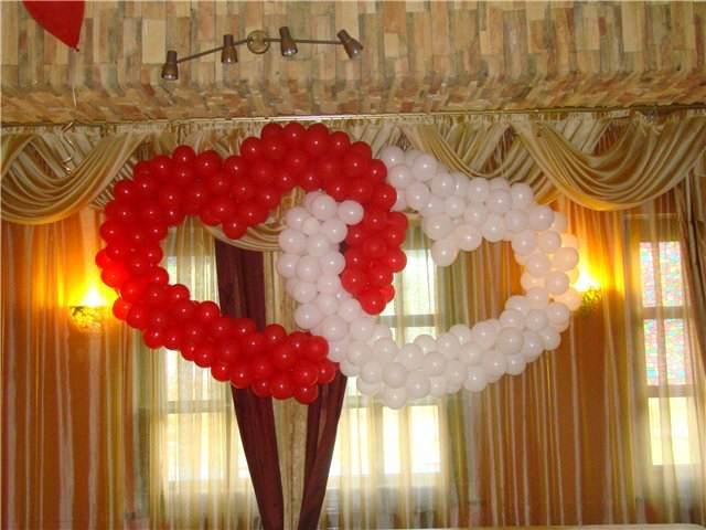 arreglos de globos ideas románticas boda decoración original