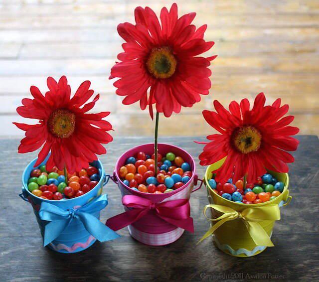 arreglos florales infantiles estilo Pascua