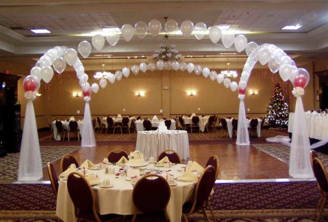 boda decoración interesante arreglos globos ideas preciosas