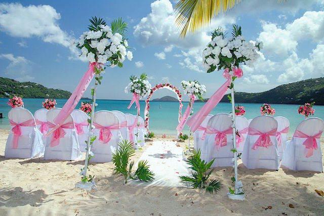 boda en la paya decoración color fresa hielo 2015