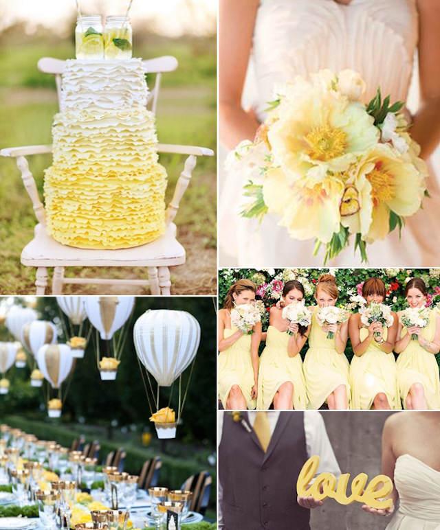 boda temática globos de aire colores moda 2015