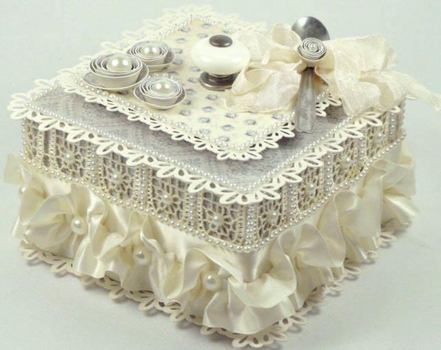 linda caja vintage recuerdos para baby shower