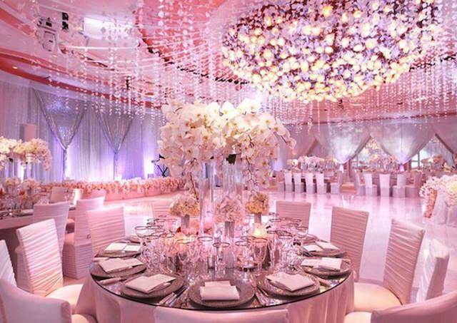 centro de mesa boda color fresa hielo 2015