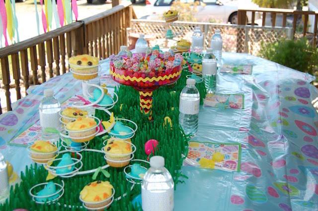 centros de mesa infantiles temáticos Pascua