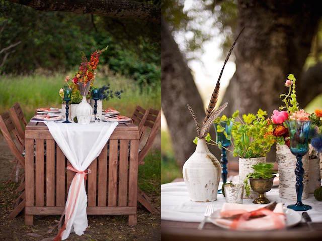 centros de mesa para boda bohemio 2015