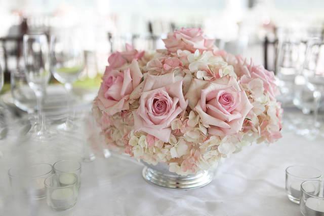 centros de mesa para boda colores suaves