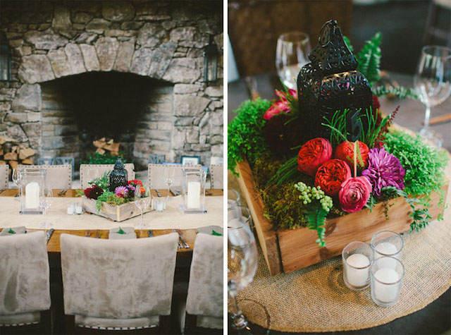 centros de mesa para boda decoración rústica preciosa