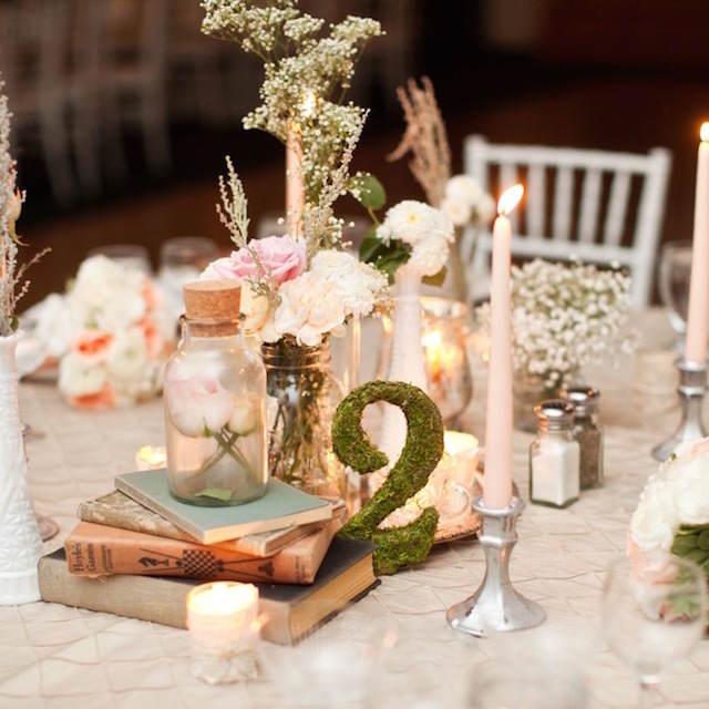centros de mesa para boda tema rústico
