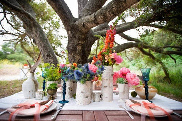 centros de mesa para boda tema boho 2015