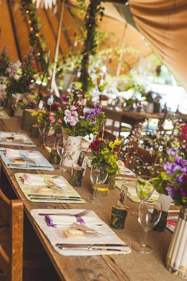centros de mesa para boda temática rústico