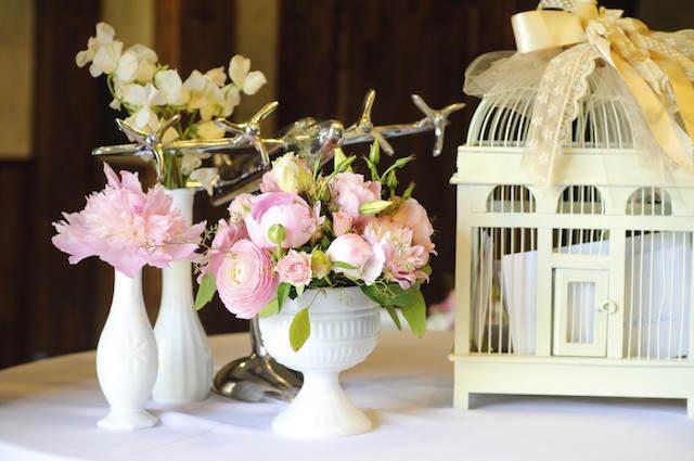 centros de mesa para boda tema vintage