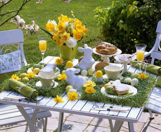 color amarillo día Pascua decoración temática