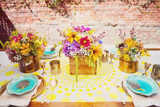 color amarillo verde fiesta vintage aire libre