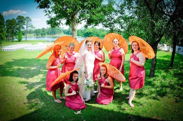color mandarina combinación rosa boda preciosa